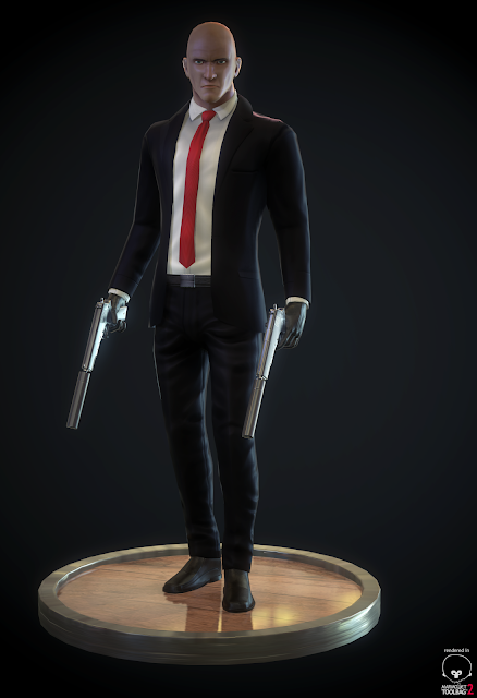 hitman fan art. real time model