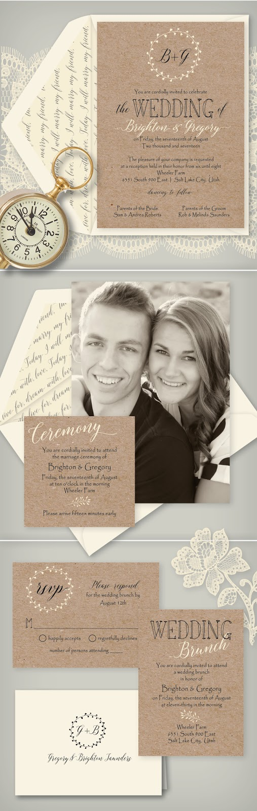 Wedding invitation blog its easy to see why were in love with this charming rustic photo wedding invitation monicamarmolfo Images