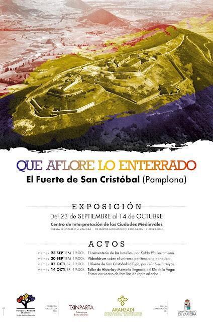 Cartel ::: Que aflore lo enterrado - El Fuerte de San Cristóbal.