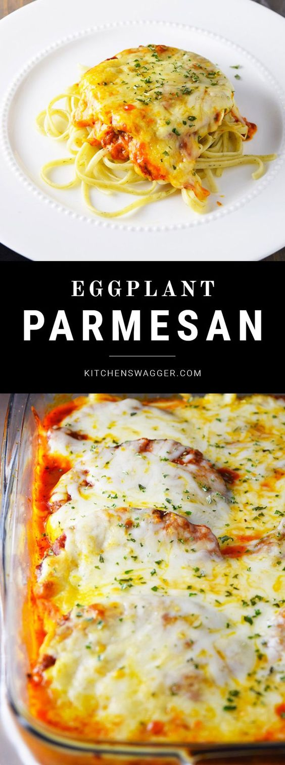 Out of all the 'parms,' eggplant parmesan is probably my least favorite (woah, wait a minute…). Veal would have to be number one and chicken is a very close second. Now don't get me wrong—I'm not saying I don't like eggplant…eggplant parmesan is delicious despite its fierce competition. Constantly being overshadowed by its two big brothers—it must be tough.
