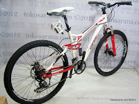 3 Sepeda Gunung Pacific Emerson 606 Full Suspension 21 Speed Shimano 26 Inci