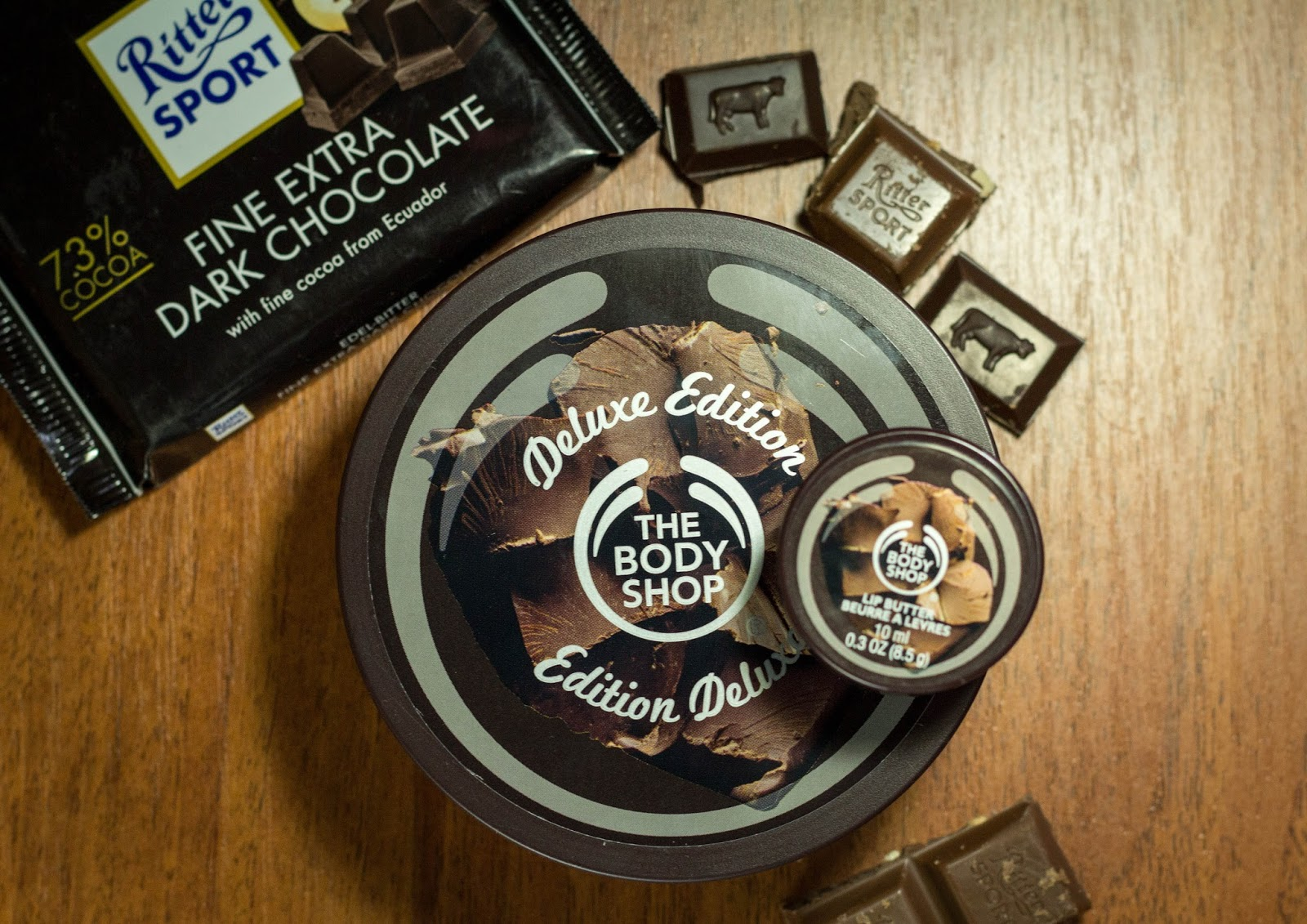 The Body Shop Chocomania Body butter + Lip butter отзыв