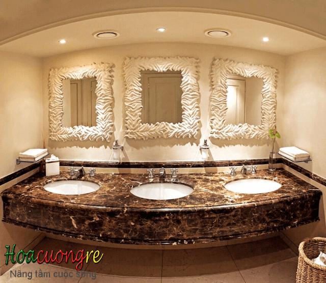Bàn đá hoa cương lavabo