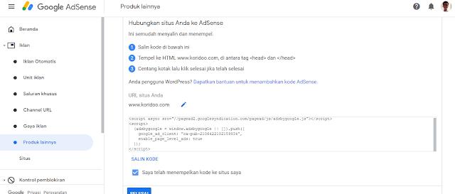 Daftar Akun Google Adsense 3