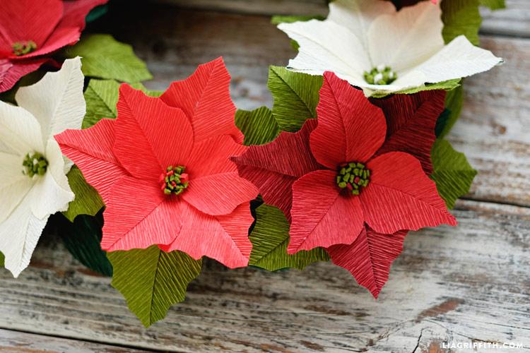 Como Fazer Flor Bico De Papagaio De Papel Crepom Para O Natal