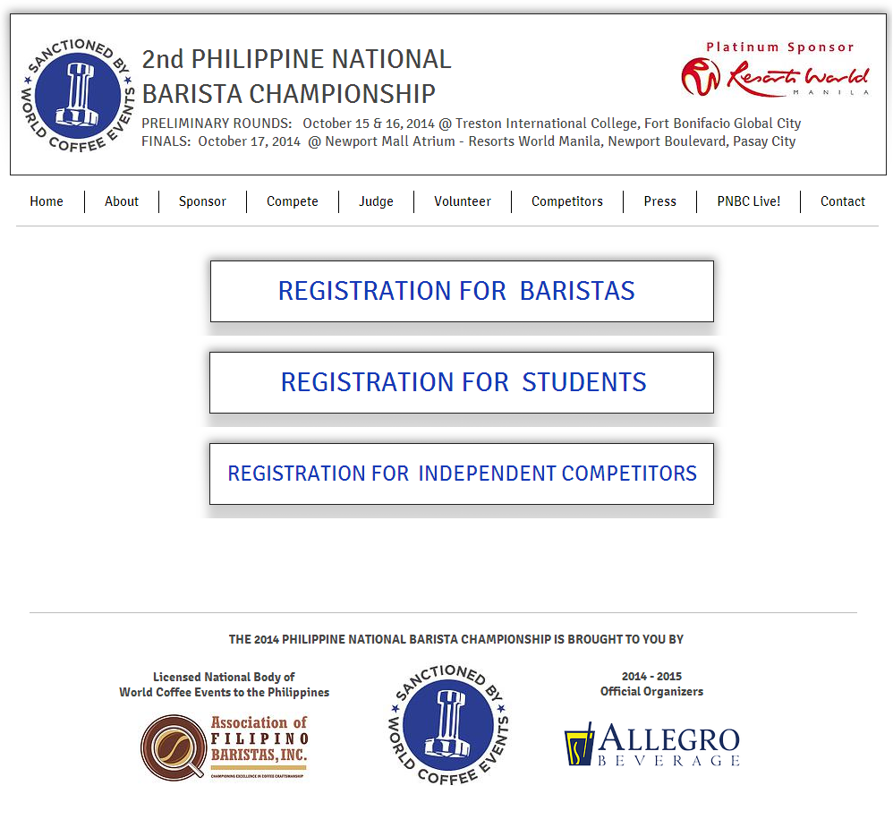 2nd Philippine National Barista Championship: Registration Online Is Now Open