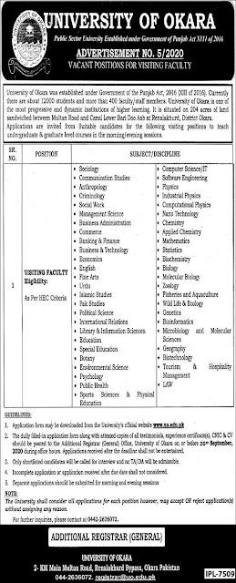 university-of-okara-uo-jobs-september-2020