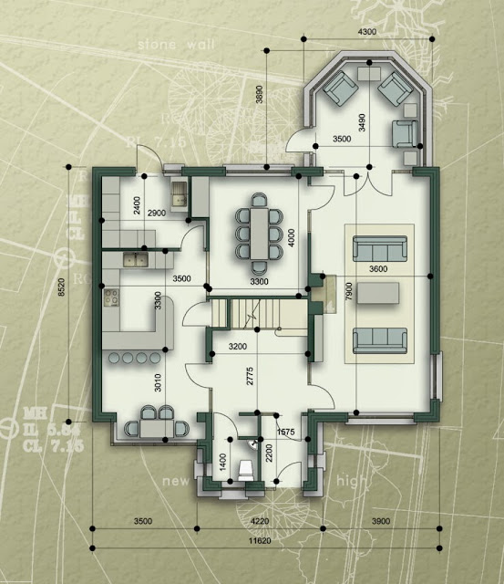 Duplex Three Story New Home Plans
