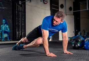 Twisting Knee Plank