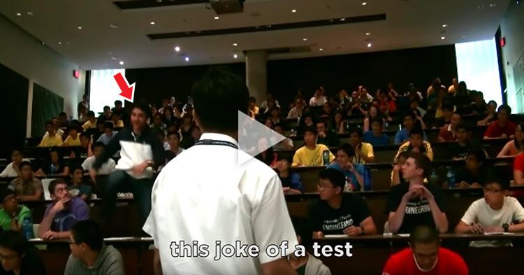 """Gangsta's Paradise"" flash mob during exam"