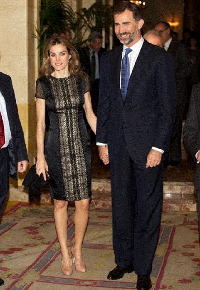 Crown Prince Felipe and Crown Princess Letizia attend the Francisco Cerecedo Journalism Award ceremony at the Ritz Hotel