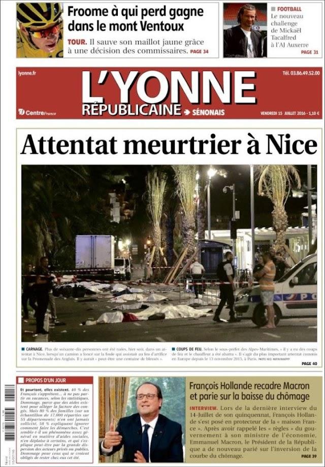 Οι 84 νέοι νεκροί στην Νίκαια φέρνουν τον τρόμο εκ νέου στην Γαλλία αλλά και σε ολόκληρη την Ευρώπη. (Ζωντανή εικόνα)