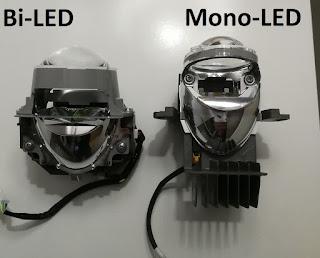 lampy bi led mercedes czy lexus bi led