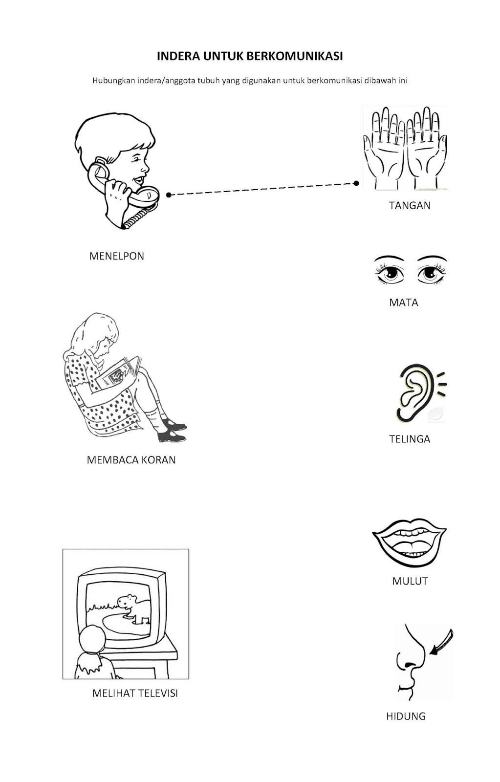 Worksheets Worksheet-anggota-tubuh im happy now in paud pendidikan anak usia dini preschool lks lembar kerja siswa tema komunikasi communication theme worksheet