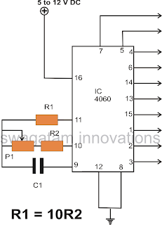 IC 4060 Pinouts Explained ~ Electronic Circuit Projects