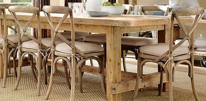 For Rustic I Had Decided On A Cross Back Chair Love These Almost Went With This From Restoration Hardware It Is The Madeline