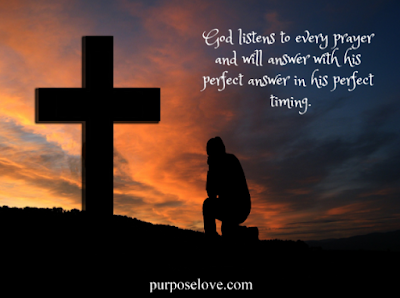 God listens to every prayer and will answer with his perfect answe in his perfect timing.
