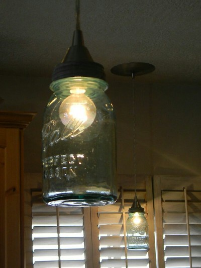 8. Ball Jar Pendant Light