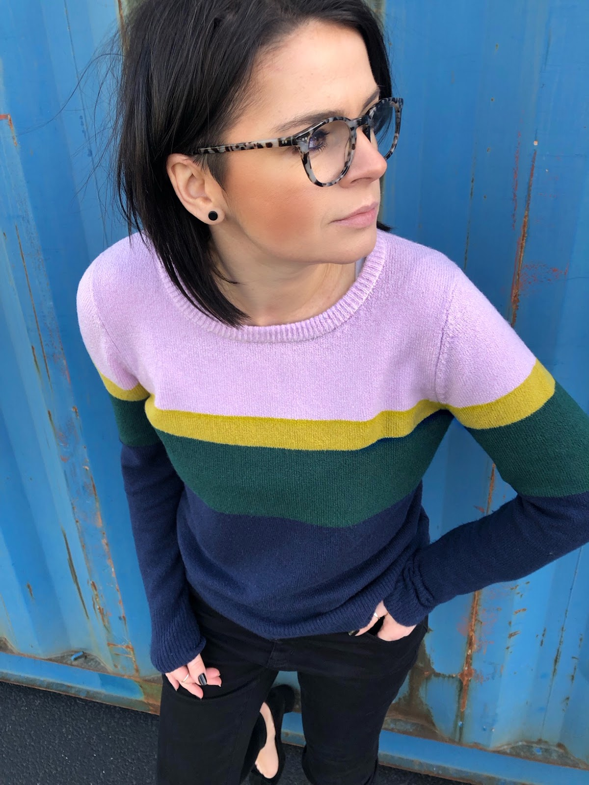 striped colorful sweater