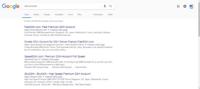 Create ssh account