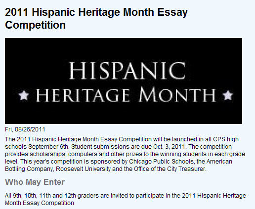 mommy maestra hispanic heritage month art writing contests chicago public schools is hosting an essay contest for students in 9th 12th grades topic carlos santana contemporary mexican american rock salsa