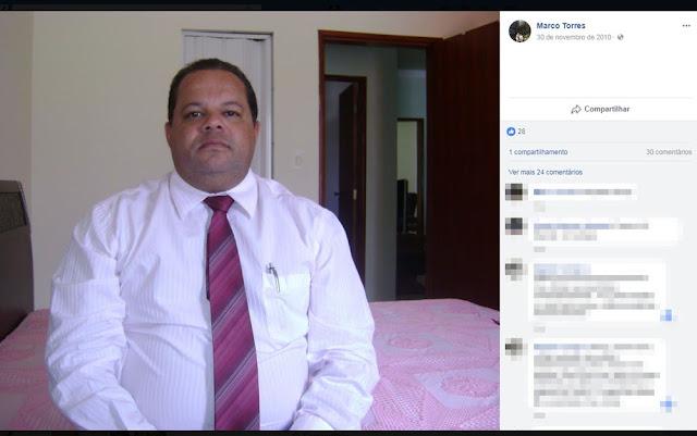 Marco Torres é delegado de Polícia Civil em Barra da Estiva (Foto: Reprodução/ Facebook)