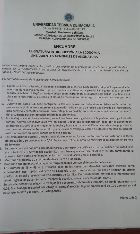 PORTAFOLIO DE INTRODUCCIÓN A LA ECONOMÍA : MISIÓN - VISIÓN DE LA ...