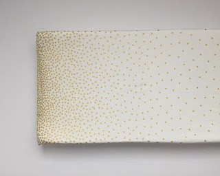 Changing Pad Cover - Metallic Gold Confetti Dots, White, Michael Miller Glitz baby girl nursery