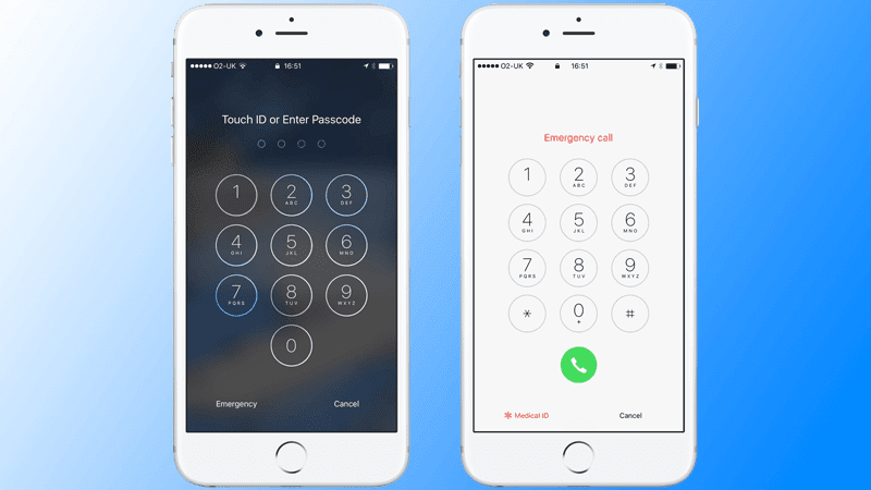 access medical id on locked iphone