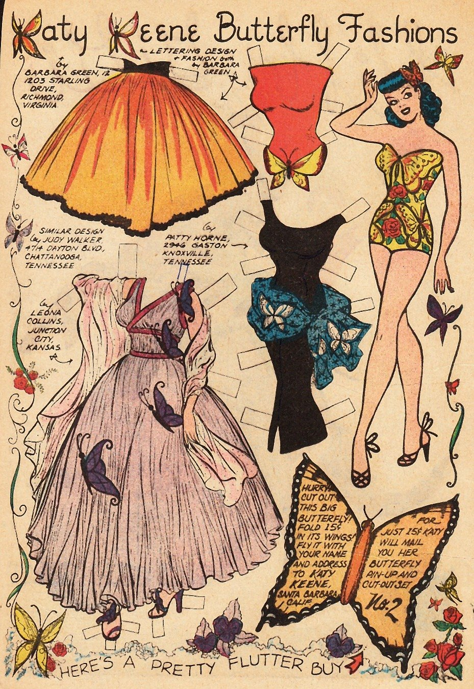 vintage paper doll accesories
