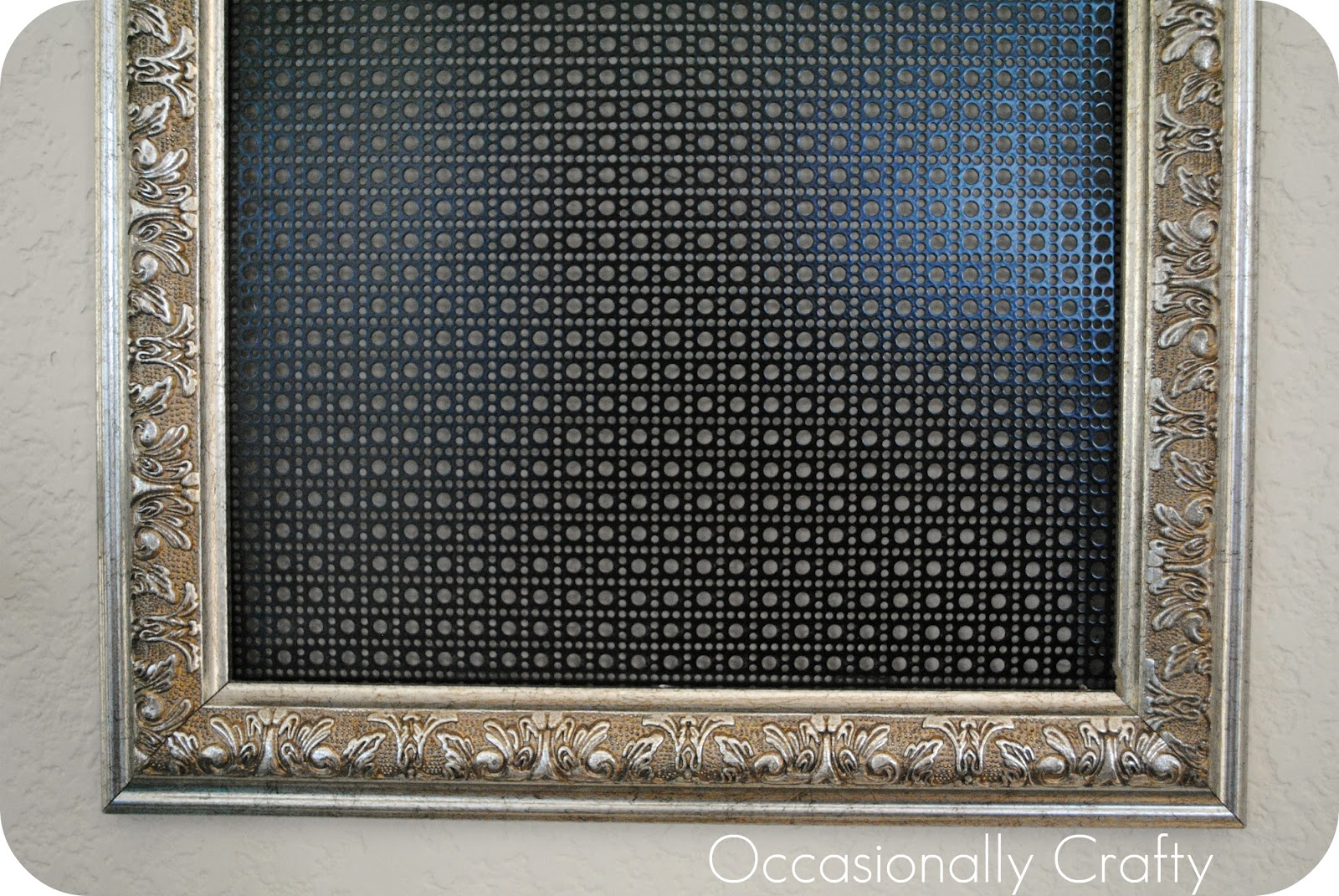Thrifted Frame to Earring Holder | Occasionally Crafty: Thrifted ...