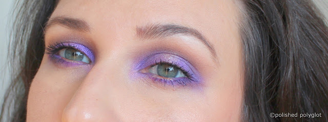 Makeup look Electrique violet and gold