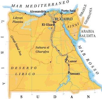 Cartina Turistica Egitto.La Terra Dei Faraoni Cenni Geografici