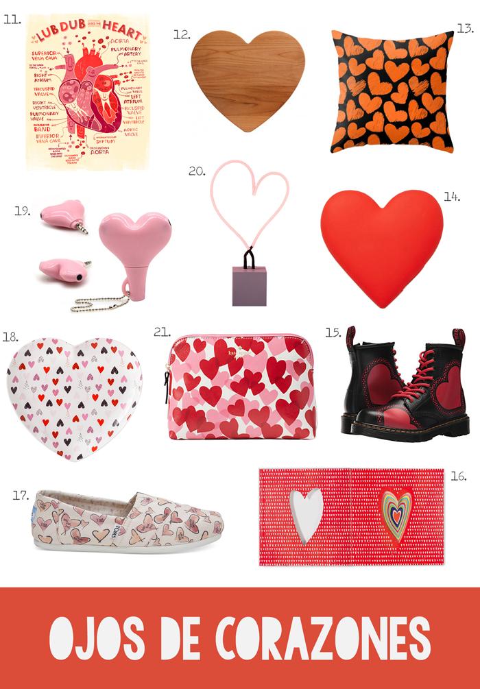 productos con corazones, ropa, accesorios, electrónicos, cojines, decoración, zapatos, mujeres, hombres, niños, San Valentín, Kate Spade