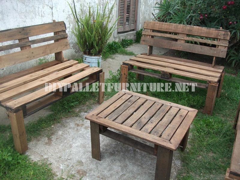 Muebles para el patio con palets - Como hacer muebles de jardin con palets ...