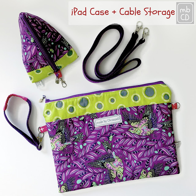 iPad Case and Cable Storage by www.madebyChrissieD.com