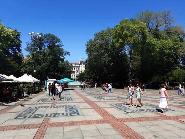 W czasie spaceru po centrum Sofii