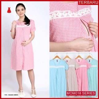 MOM018D14 Dress Hamil Menyusui Imut Kotak Dresshamil Ibu Hamil