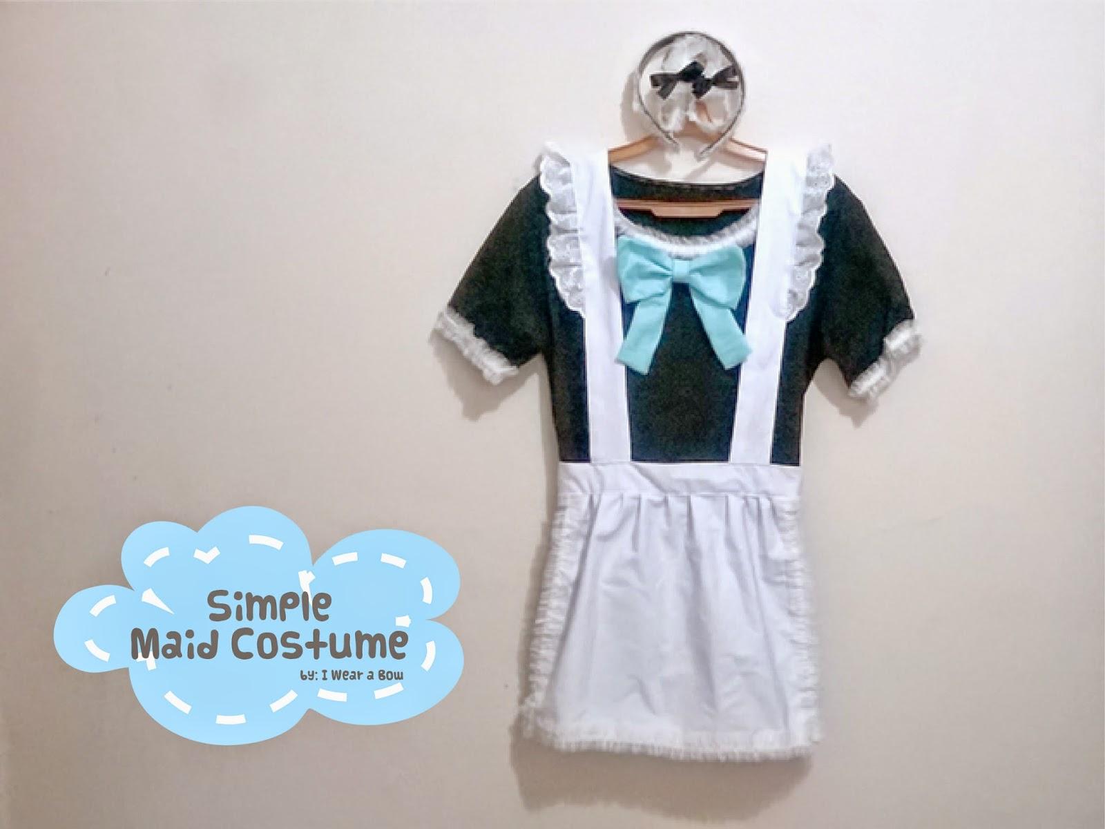 Halloween DIY Maid Costume - Simple Tutorial