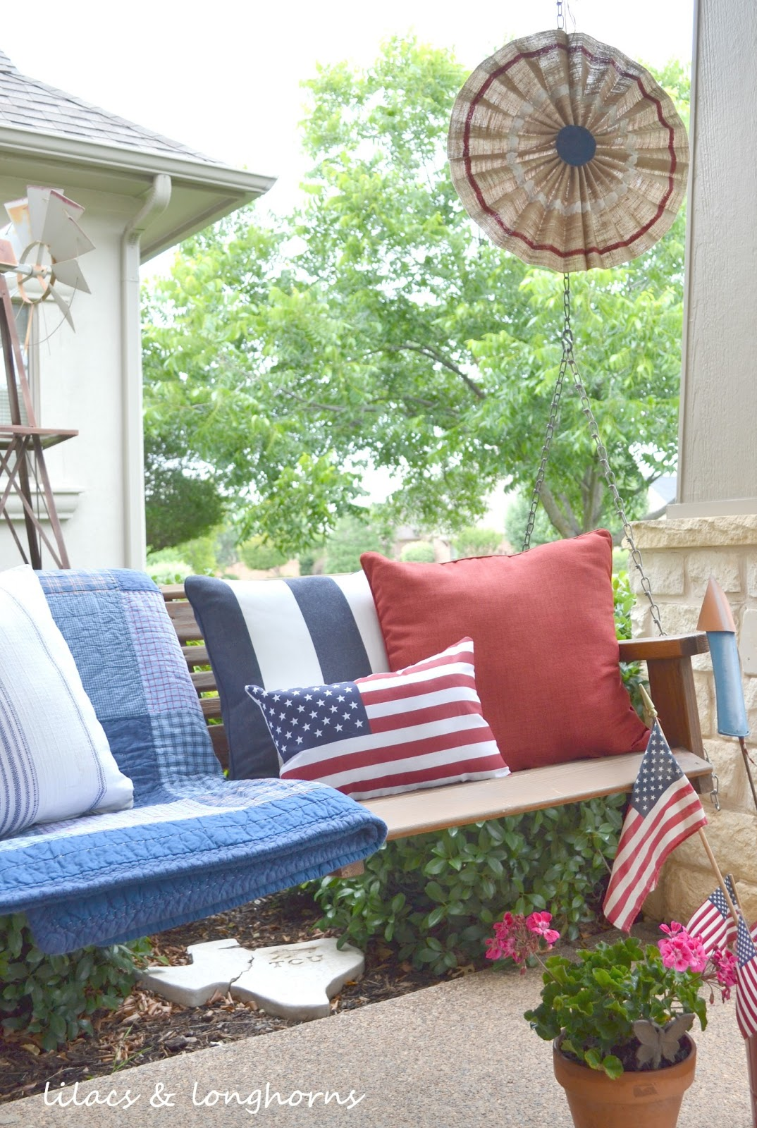 Fourth Of July Pottery Barn Knock Off Tutorial Lilacs