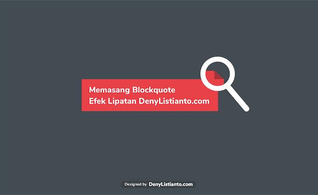 Memasang Blockquote (Catatan) dengan Efek Lipatan