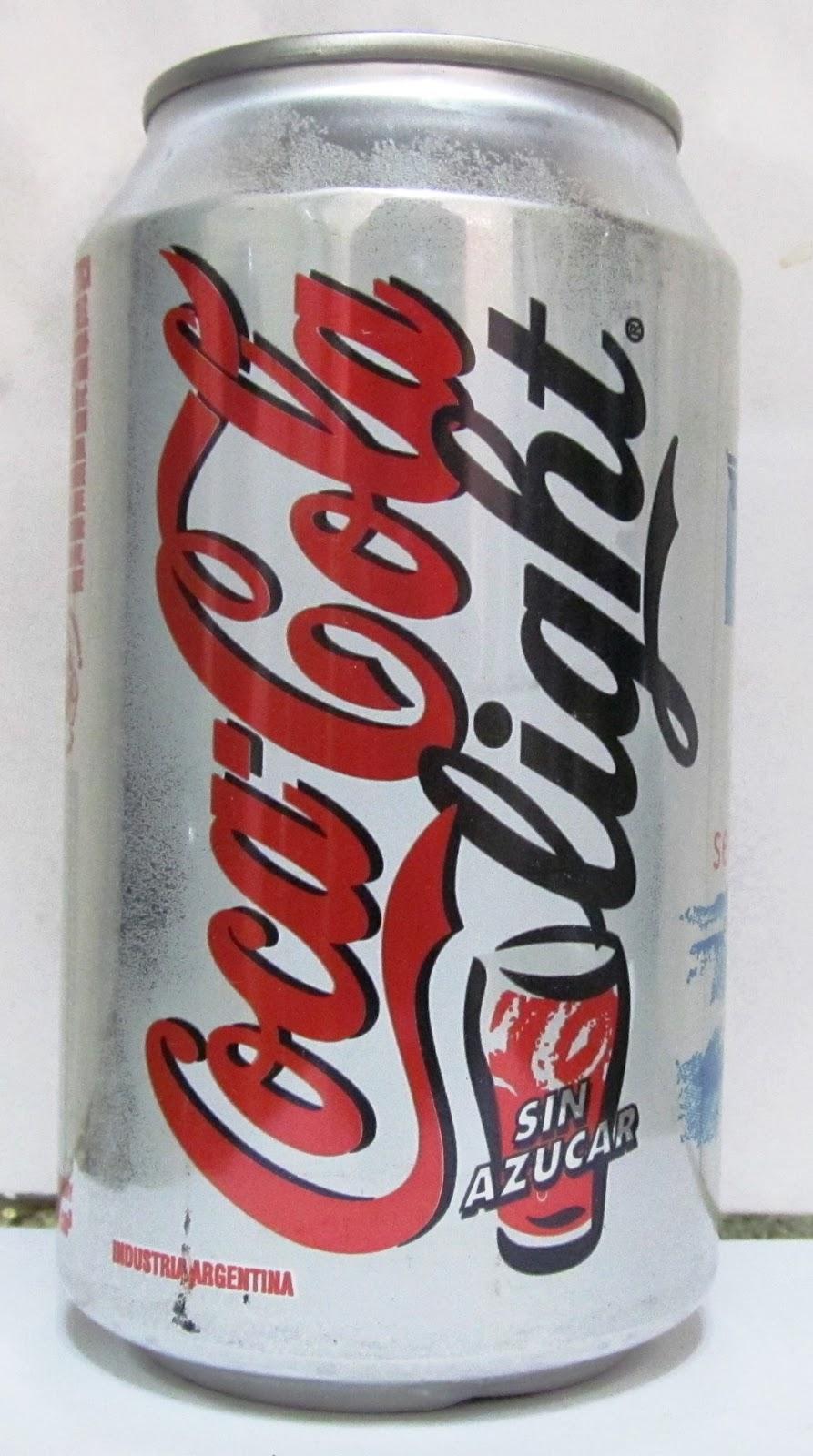 latas y botellas colecciÓn: lata coca cola light senti el placer de