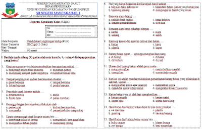 Soal UKK PLH Kelas 3 SD/MI