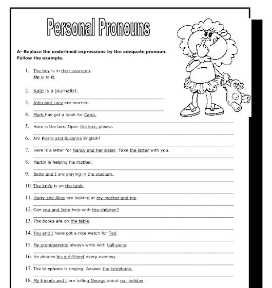 Personal pronouns Правила употребления и упражнения
