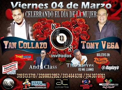 ► Tony Vega y Yan Collazo Celebrando el día de la Mujer