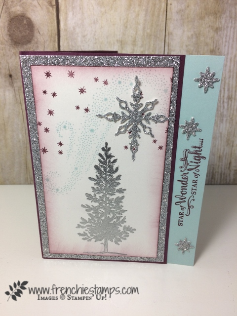 Star of Light, Lovely as a Tree, Stampin'Up!, Frenchie Stamps,