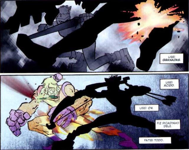 Vemos por exemplo Carry utilizando o arco e as flechas de Oliver para detonar o estranho e misterioso Coringa