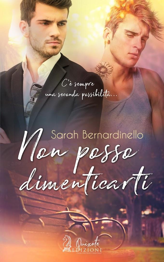 """Libri in uscita: """"Non posso dimenticarti"""" di Sarah Bernardinello"""