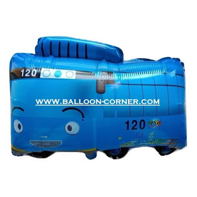 Balon Foil Karakter Little Bus Tayo (Biru)