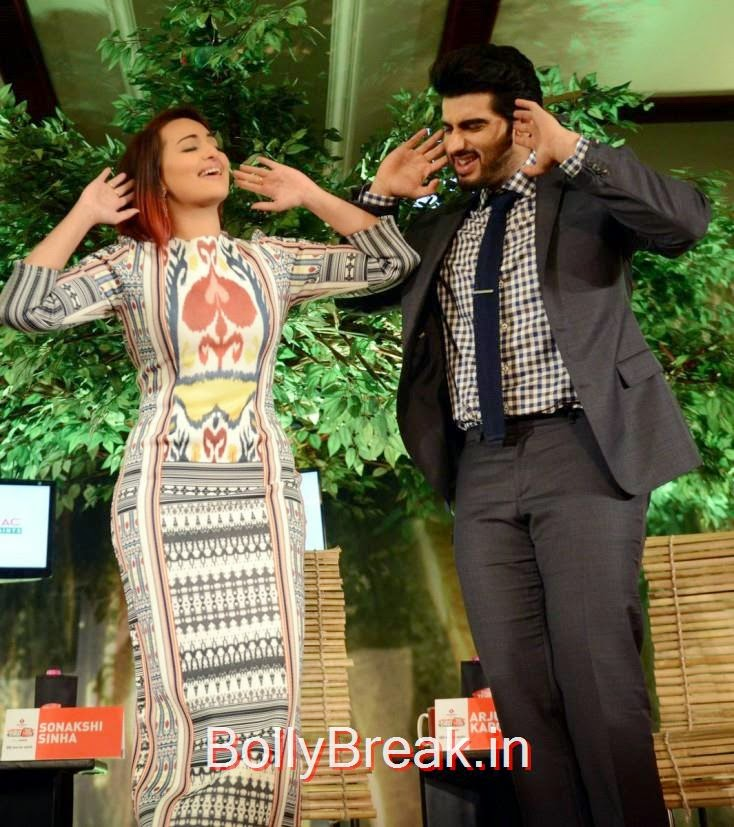 """Sonakshi: """" This is an awesome pose for the camera, right Arjun?"""""""